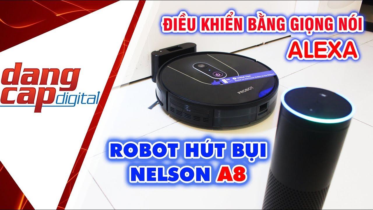 Robot hút bụi Probot Nelson A8 2020: Ra lệnh bằng giọng nói ALEXA - Dangcapdigital.vn